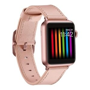Apple Watch Band 38mm Leather Pink